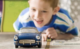 Preschool measuring toy car